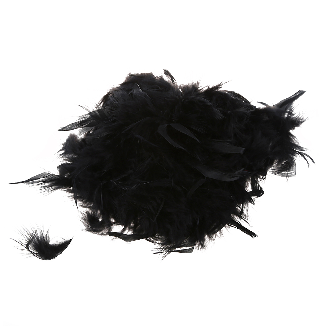 Feather of Boa Black Fluffy Decoration Craft 6.6 Feet Long ...