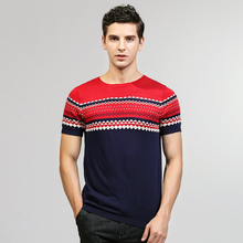 High Quality Mens Short Sleeve Tops Summer Knitted Sweater O Neck Fashion Designer Breathable Pullover Korean Style Male