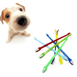 1 шт случайный цвет собака кошка зубная щетка уход за зубами домашние материалы для чистки собак CRYXZ3