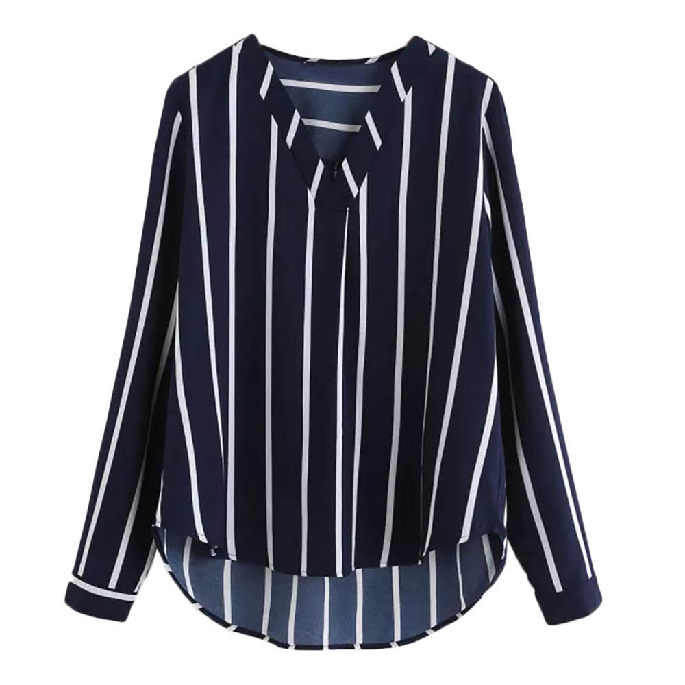 Ishowtienda Fashion Shirts Women Blouses Women  S Tops Casual Half Sleeve Off Shoulder Bandage Stripe Printed Tops Haut Femme Strong Packing Women's Clothing