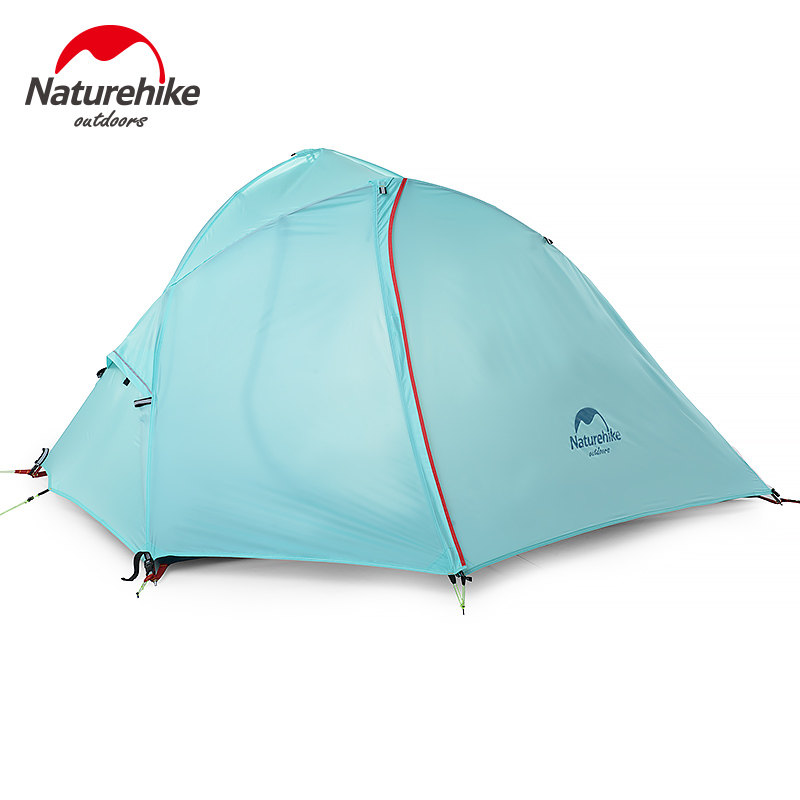Naturehike 1-2 Person Outdoor Double Layer Tent Camping Windproof Waterproof Tent 3 seasons Aluminum Rod waterproof стоимость