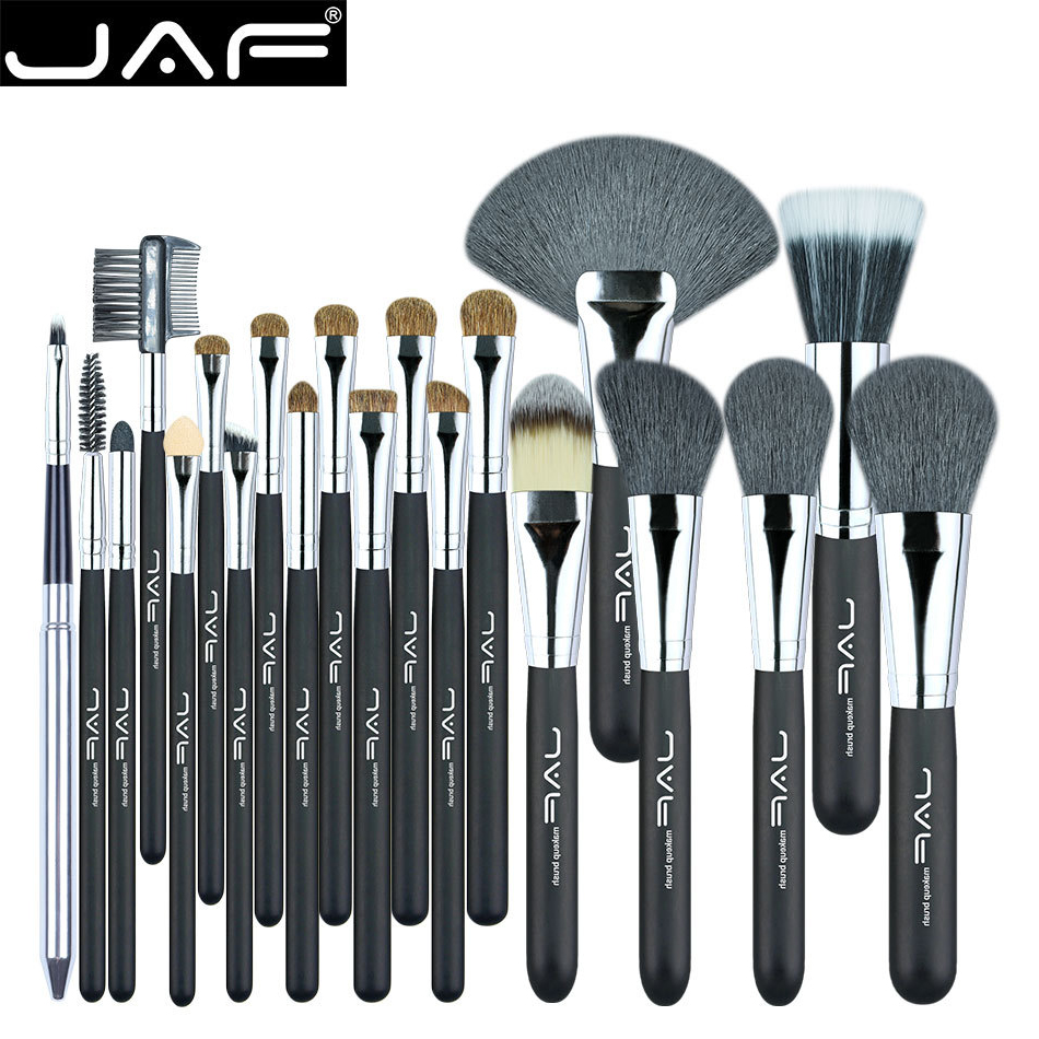 JAF 20 Pcs/Set Makup Brushes Premiuim Natural Hair of Goat & Pony Horse Super Soft Makeup Brush Tool Set Women Cosmetic Tools free shipping 9 pcs brush set with mirror in brush box high quality soft goat hair and pony hair