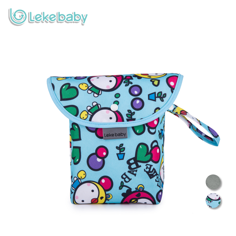 Lekebaby Baby Diaper Bags Maternity Bag Waterproof Wet Cloth Diaper Backpack Reusable Diaper Cover Dry Wet Bag For Mom Baby Care