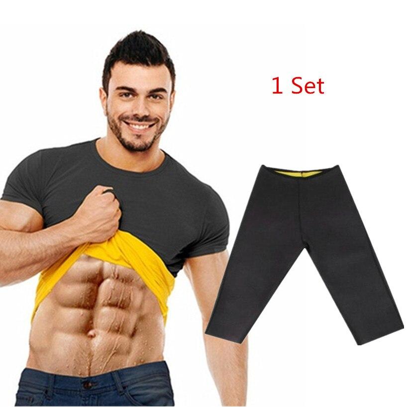 Natural Weight-Loss Neoprene New Workout Body Shaper Pants Shirt Vest Men Women Sauna Sweat Shirt Thermal Shapers Slimming Pants