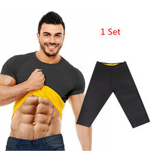 Natural Weight-Loss Neoprene new Workout Body Shaper Pants Shirt Vest Men Women Sauna Sweat Shirt Thermal Shapers Slimming Pants(China)