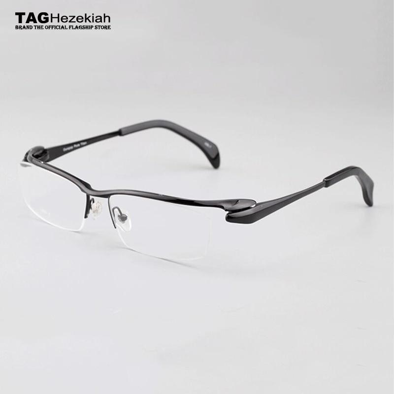 2019 retro Brand titanium eyeglasses frames glasses frame men women prescription eyewear frames Reading glasses Lightweight nerd