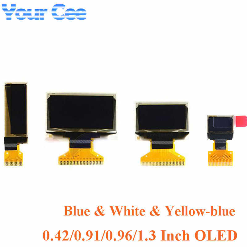 OLED Display LCD 0.42 0.91 0.96 1.3 Inch Blue White LCD Screen Display Module OLED Module 0.42'' 0.91'' 0.96'' 1.3'' for Arduino