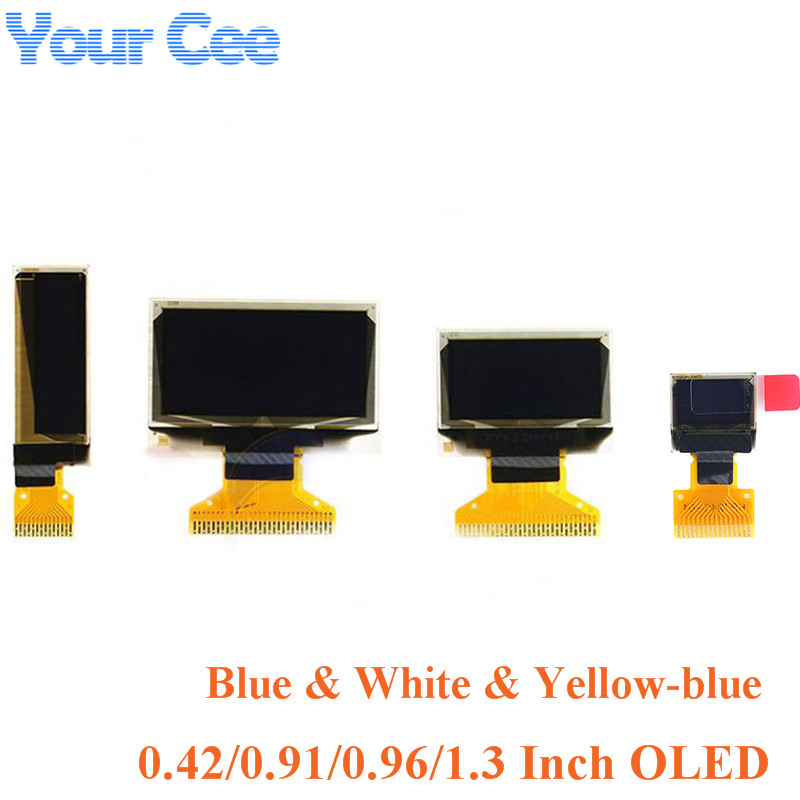<font><b>OLED</b></font> Display LCD 0.42 0.91 0.96 <font><b>1.3</b></font> <font><b>Inch</b></font> Blue White LCD Screen Display Module <font><b>OLED</b></font> Module 0.42'' 0.91'' 0.96'' <font><b>1.3</b></font>'' for Arduino image