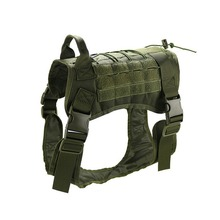 Tactical Dog Harness Vest Molle System Water Resistant Service Comfortable Training with Handle