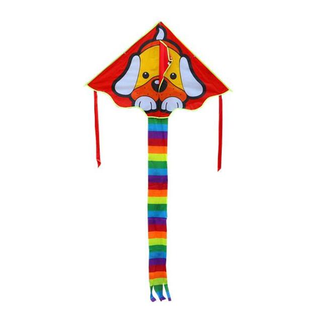 Cpam frete grátis crianças kites adorável cão de nylon ripstop pipa controle fácil voar mais alto com linha pega brinquedos ao ar livre polvo