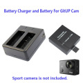 Free Shipping!!1000mAh Backup Rechargable Li-on Battery For GitUP Git2 Sport Camera DV+1pcs Battery Charger