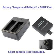 Free Shipping 1000mAh or 950mAh Backup Rechargable Li on Battery For GitUP Git2 Sport Camera DV