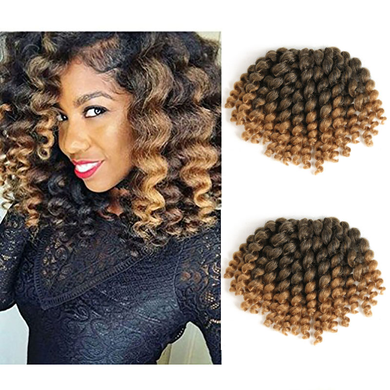 Jamaican Bounce Crochet Hair 8inch Crochet Braids Synthetic Braiding