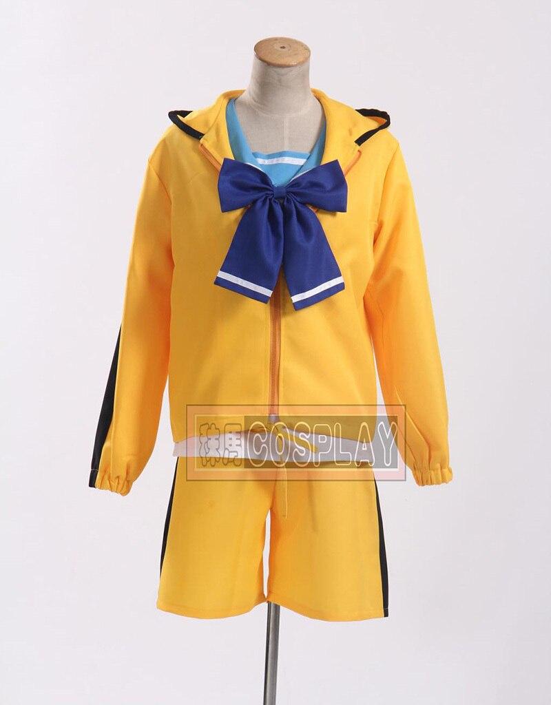 Free Shipping Bakemonogatari Monstory Araragi Karen Sport Clothes Cosplay Costume