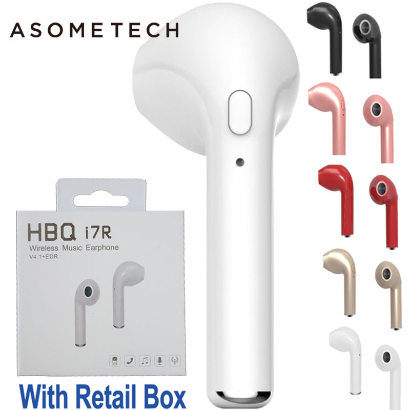HBQ I7 TWS Wireless Earphone Bluetooth Headset In-Ear Invisible Earbud with Mic for iPhone 7 plus 7 6 6s 5 5s Samsung S8 Xiaomi original roman r6000 wireless bluetooth headset for samsung xiaomi iphone 7 car charger 2 in 1 bluetooth earphone