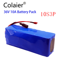 Colaier 36V 10Ah 500w 18650 Rechargeable battery pack ,modified Bicycles,electric vehicle 36V Protection with BMS