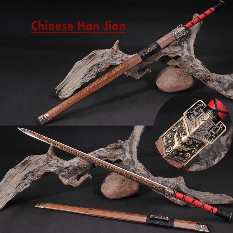 Ev ve Bahçe'ten Kılıçlar'de Çin Kılıç Elmas Şekli Yüksek Karbon Bıçak Keskin Aşındırma Kırmızı Altın Desen Metal Zanaat Ev Dekorasyon Roman Hatıra'da  Grup 1