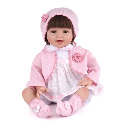 55cm Cute Soft Silicone Reborn Baby Doll Toys Lifelike Newborn Girls Babies Play House Bedtime Toy Fashion Brithday Gifts soft silicone reborn baby dolls toys for girls lifelike birthday present gifts cute newborn boy babies bedtime play house toy