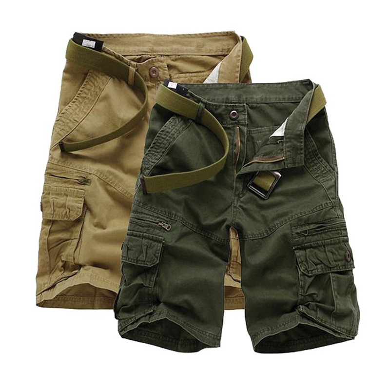 Men Casual Shorts Cool Military Cargo Shorts Men Fashion Cotton Short Pants Brand Clothing Comfortable Summer Shorts for Man