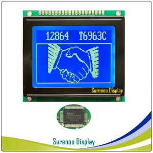 Image 4 - 78X70MM 12864 128*64 Graphic Matrix LCD Module Display Screen LCM with T6963C/RA6963 Controller in Industry Grade
