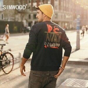 SIMWOOD 2019 الربيع شتاء جديد هوديس الرجال الأزياء مضحك الأزياء إلكتروني طباعة 100% القطن بلوزات س الرقبة زائد حجم 180419