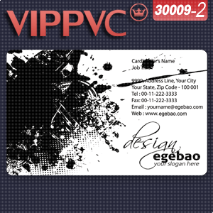 a30009-2 Card template for  Business cards Transparent PVC card