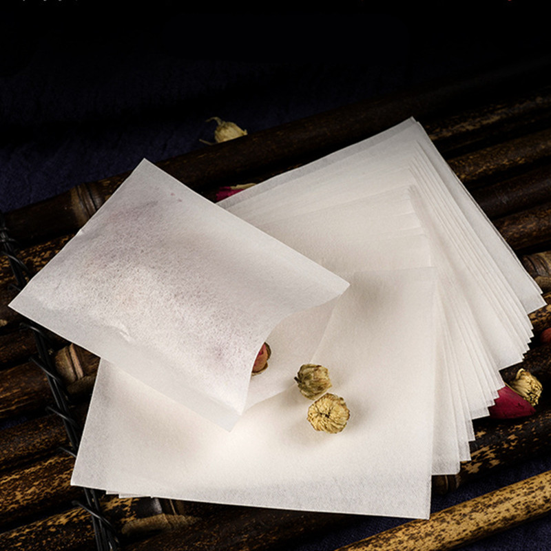 100 Pcs Tea Bags food grade hot-sealed filter paper can contain a variety of spices soup filter coffee tea high gas permeability image