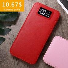 10000 мАч Внешний аккумулятор повербанк 2 USB lcd power Bank портативное зарядное устройство для мобильного телефона для Xiaomi для honor huawei