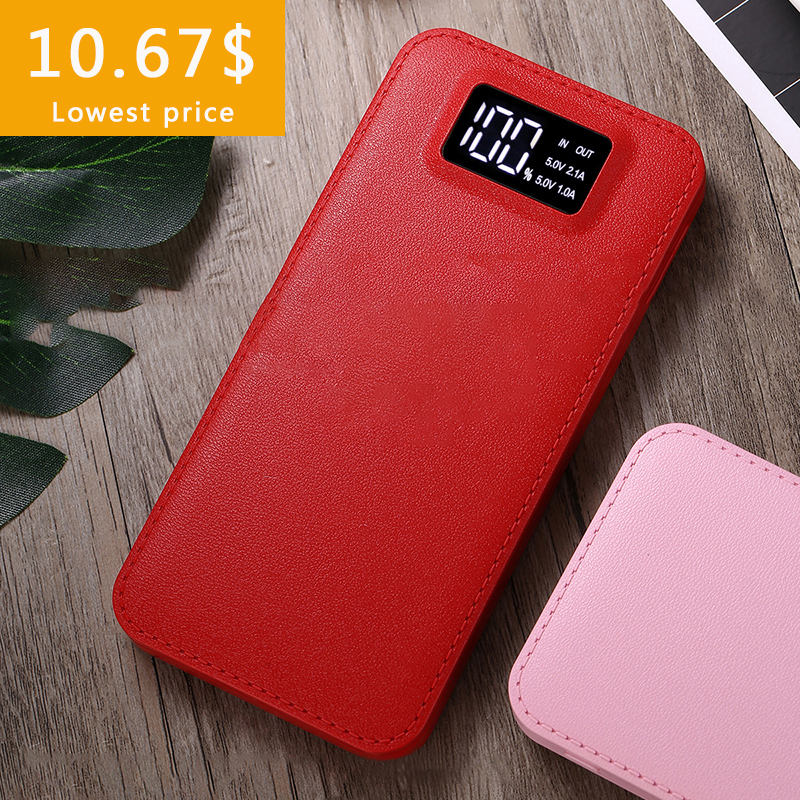 30000mah Power Bank External Battery PoverBank 2 USB LCD Powerbank Portable Mobile Phone Charger For Xiaomi For honor Huawei