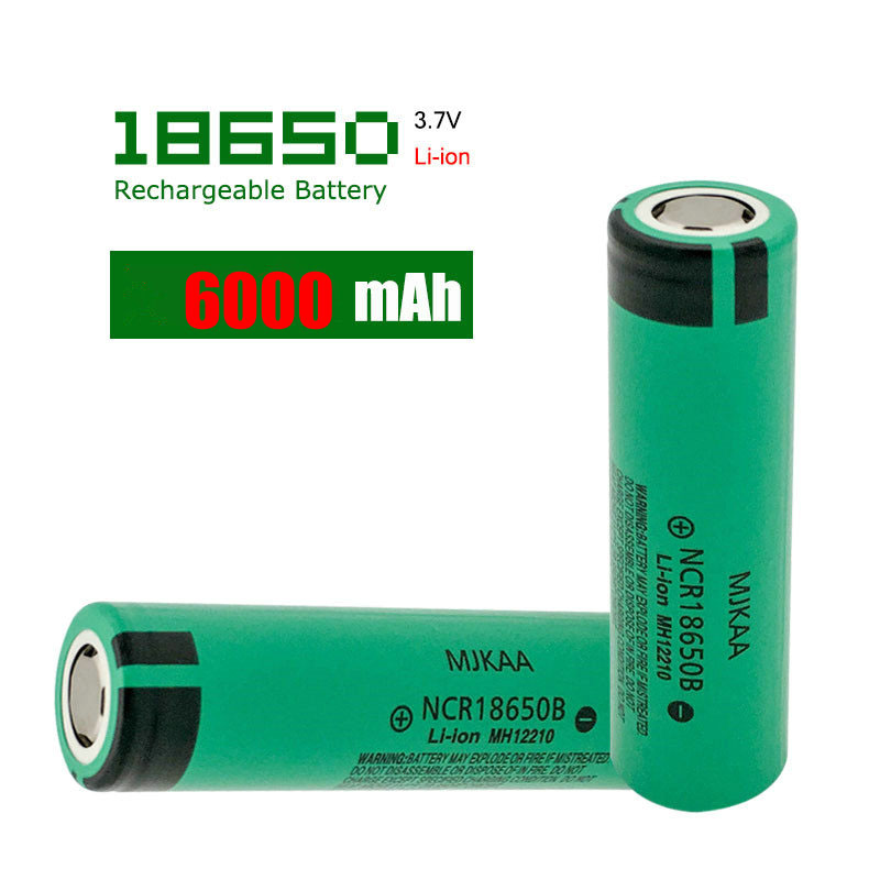 Cncool 3.7V 6000MAH Original Rechargeable Battery NCR18650 li-ion Rechargeable Batteries <font><b>NCR18650B</b></font> Battery Cells image