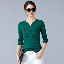 2019 Spring and autumn thin film in the spring winter pure color long sleeve T-shirt