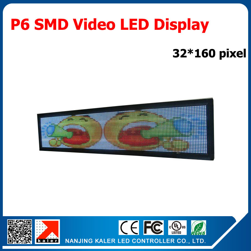 Kaler 6mm Pixel Full Color Module Indoor/semi-outdoor LED Display Panel P6 RGB SMD 192x960mm Indoor Video Wall LED Display