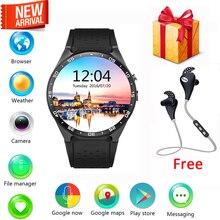 KingWear KW88 reloj inteligente Android 5.1 OS 1.39 pulgadas Amoled Pantalla 3G wifi Smartwatch Teléfono MTK6580 GPS Sensor de Gravedad podómetro
