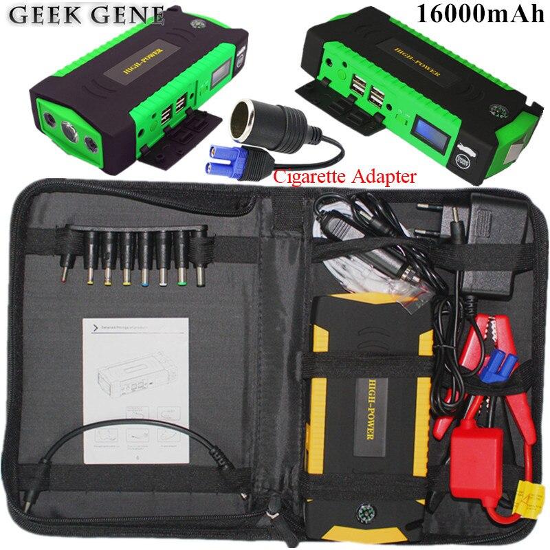 Auto Starthilfe 12 V 600A Tragbare Startvorrichtung Energienbank auto Ladegerät Für Autobatterie Booster Benzin Diesel Auto Starter LED