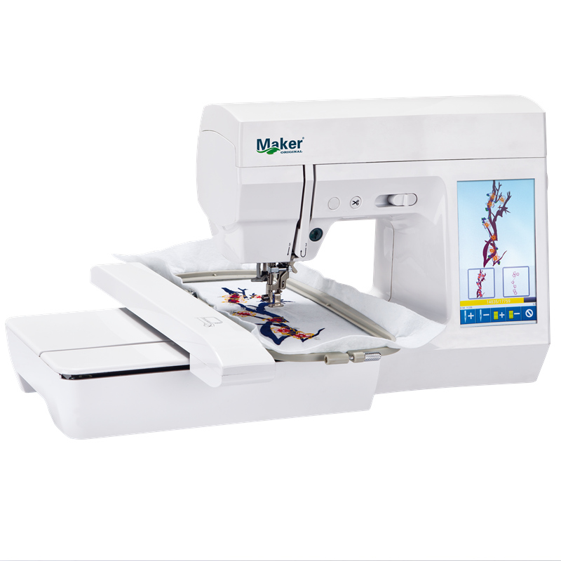 MK7300 portable domestic computerized small electric embroidery machine AC100 240V 7 LCD touch screen supply free