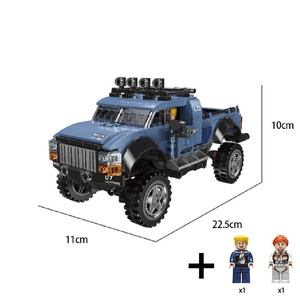 Image 3 - סופר רכב טנדר SUV למבוגרים מיני אבני בניין פאזל עצרת דגם צעצוע קשה בני