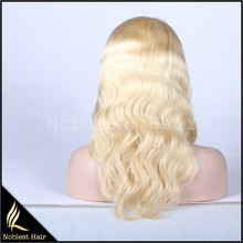 hot sale 613# blonde body wave brazilian virgin hair lace wigs cheap wavy full lace wigs natural hairline free shipping