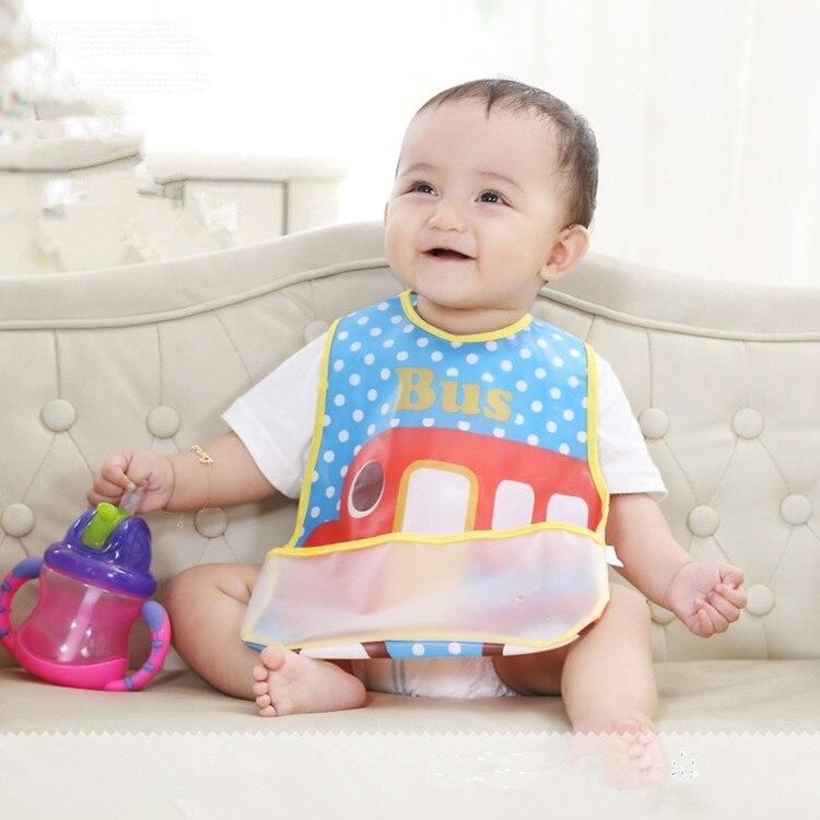 Wholesale Baby Bibs EVA Waterproof Lunch Bibs Boys Girls Infants Cartoon Pattern Bibs Burp Cloths For Children Self Feeding Care