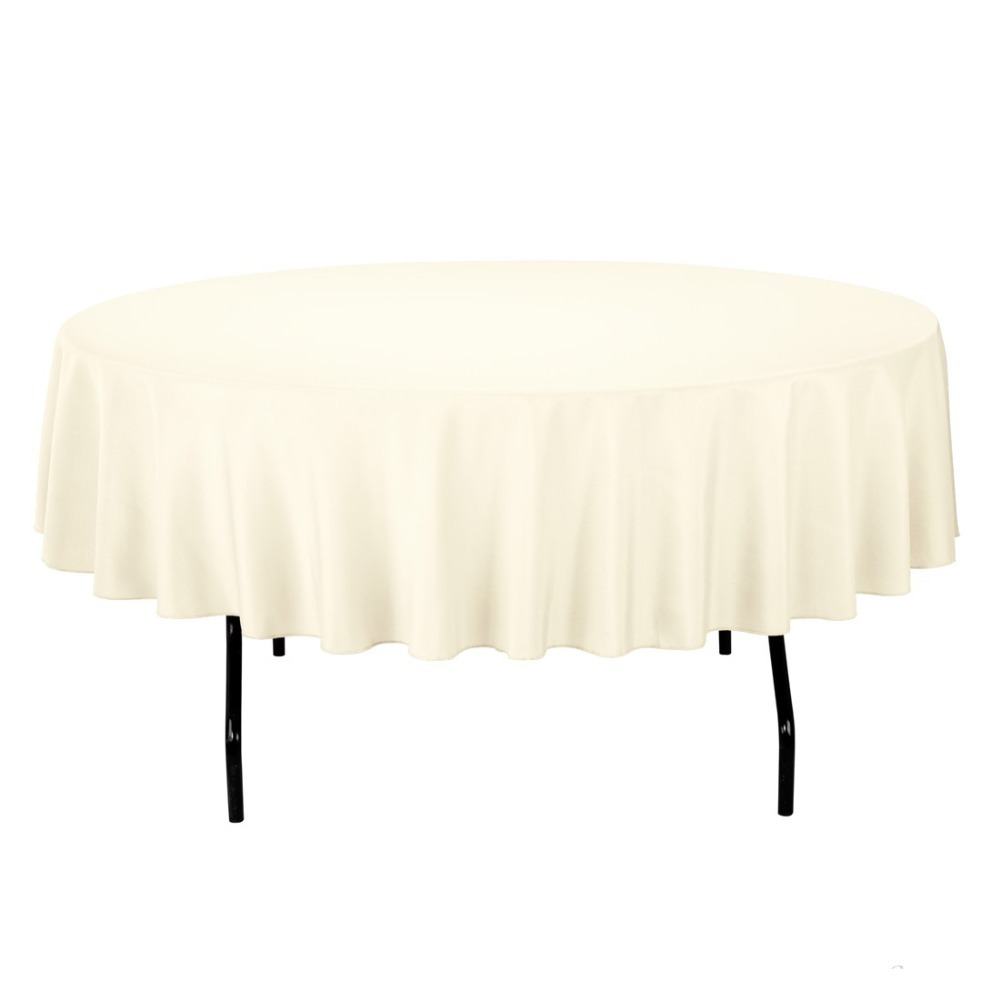 Great HK DHL Stain Feel 90 Inch/230cm Polyester Round Tablecloth Color Ivory For  Wedding, 5/Pack In Tablecloths From Home U0026 Garden On Aliexpress.com |  Alibaba ...