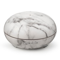 Chern 300ML Aromatherapy Essential Oil Diffuser Ultrasonic Air Humidifier With Marble Grain 7 Color Changing LED