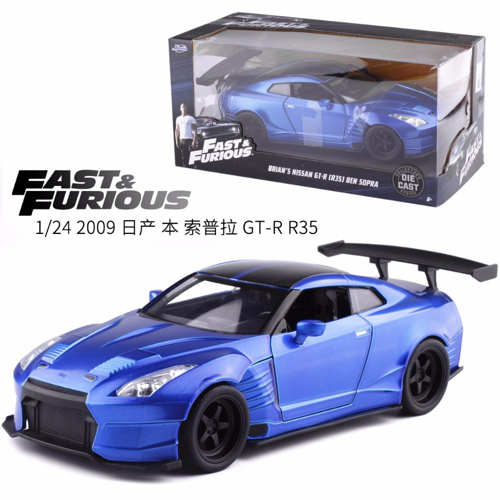 High simitation JADA 1:24 Advanced Alloy Car Model Ben Sopula GT-R35 Sports Car Metal Collection Model Kids Toys Free Shipping maisto jeep wrangler rubicon fire engine 1 18 scale alloy model metal diecast car toys high quality collection kids toys gift