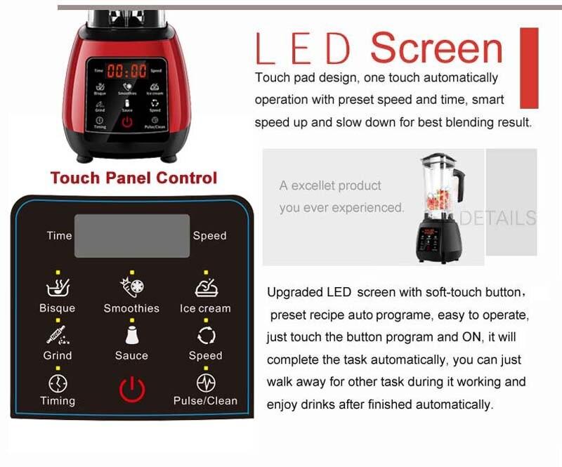 HTB11sNRXlr0gK0jSZFnq6zRRXXaT BPA FREE High Power Digital Touchscreen Automatically Program 3HP Blender Mixer Juicer Food Processor Ice Green Smoothie