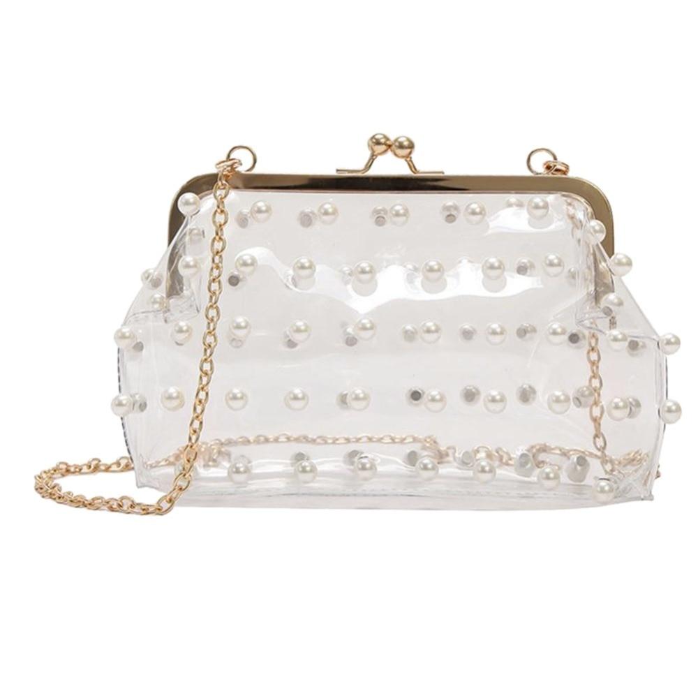 2018 Women PVC Transparent Crossbody Bag Fashion Clutch Evening Chain Shoulder Bags Girls Ladies Messenger Handbag Sac a Main алиэкспресс сумка прозрачная