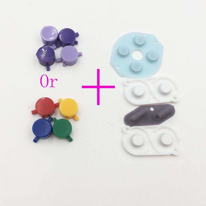 Para gameboy dmg gb botão de plástico & borracha de silicone um b selecione botão de início mod para raspberry pi zero