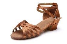 Beige color low heel latin ballroom dance shoes high quality popular style for children kids girls women ladies