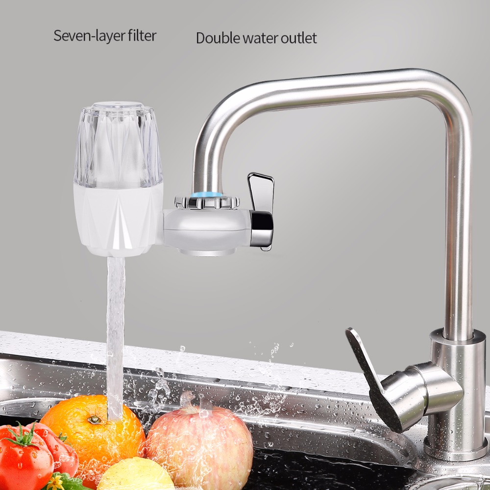 US $12.54 |Household Faucet Water Filter Activated Carbon Tap Water Filter  Kitchen Water Purifier Rust Sediment Removal Water Softener 0-in Water ...