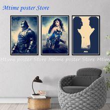Batman v Superman el amanecer de la justicia B Vintage Retro de marco de poster pared casa decoración regalo 42*30 cm