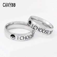 I Choose You Ring Couple Stainless Steel Engagement