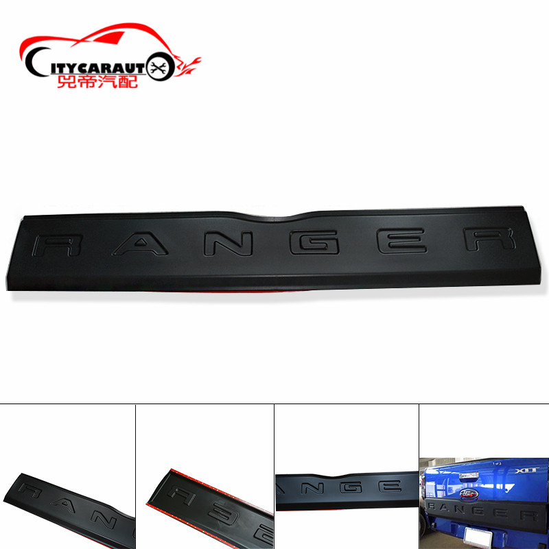 2012-2017 Accessories For Ranger t6 t7 Tailgate Trim Panel Bottom Board Cover trunk trims Suitable for Ranger T6 T7 Wildtrak