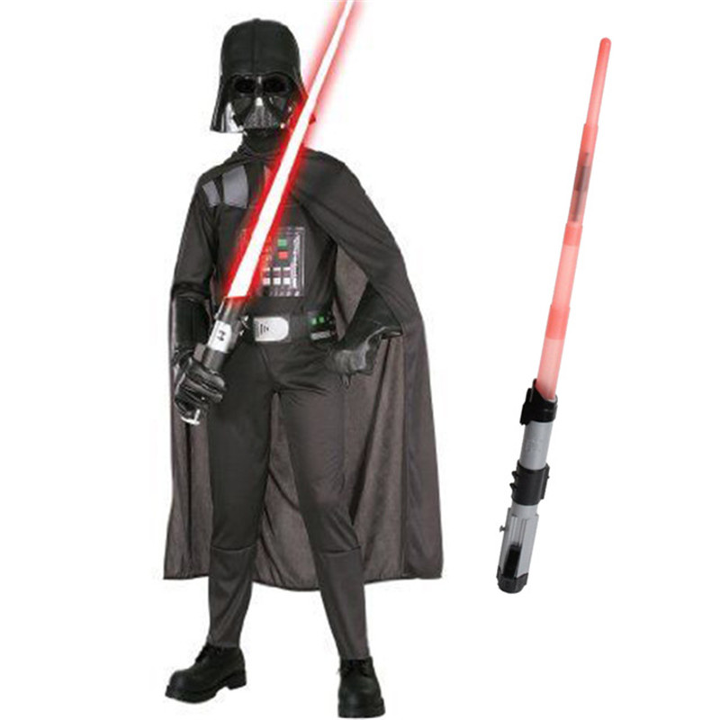 2018 Kids Star Wars Darth Vader Costume Movie Anakin Skywalker Storm Trooper Set Boys Birthday Halloween Purim New Year Gift